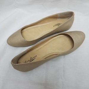Lucky Brand Aimee flats in gold